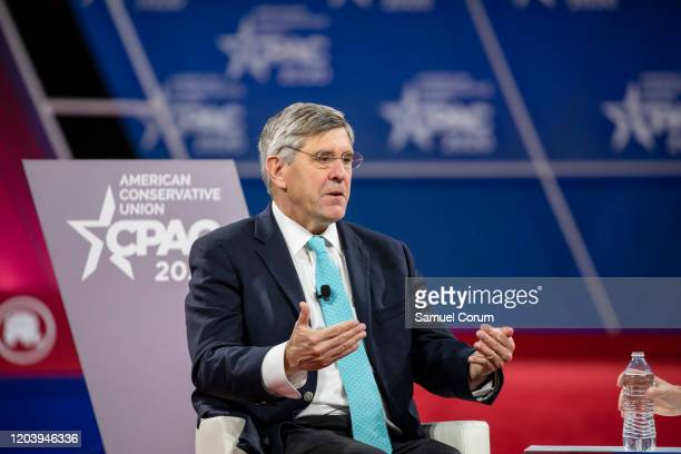 Stephen Moore, Distinguished Visiting Fellow for Project for Economic Growth at The Heritage Foundation, has a conversation with Acting White House...