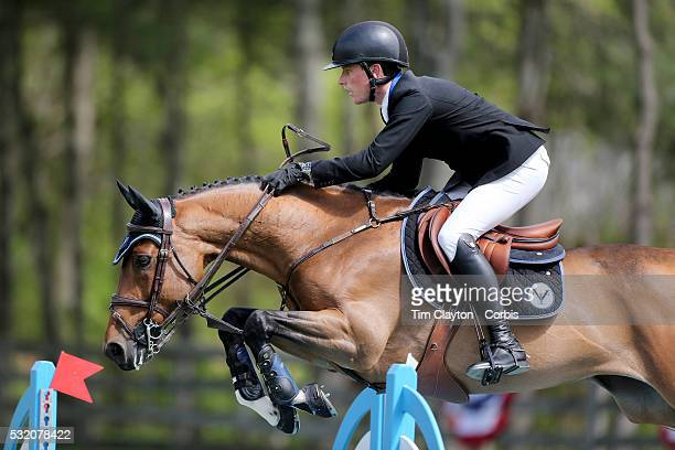 Stephen Moore Ireland riding Team De Coquerie in action during The $50000 Old Salem Farm Grand Prix presented by The Kincade Group at the Old Salem...
