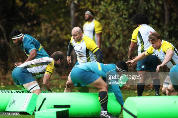 Stephen Moore of Australia is seen during a training session at Peffermill Playing Fields on November 21 2017 in Edinburgh Scotland