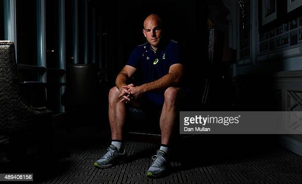 Stephen Moore of Australia poses for a portrait during an Australia media session at the MacDonald Bath Spa Hotel on September 21 2015 in Bath United...
