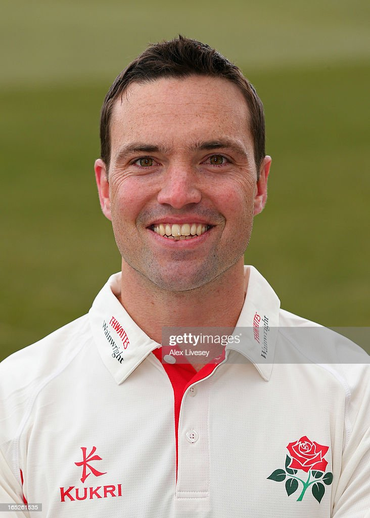 Stephen Moore of Lancashire CCC during a pre-season photocall at Old Trafford on April 2, 2013 in Manchester, England.