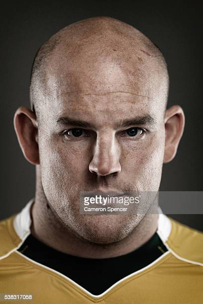 Stephen Moore of the Wallabies poses during an Australian Wallabies portrait session on May 30 2016 in Sunshine Coast Australia