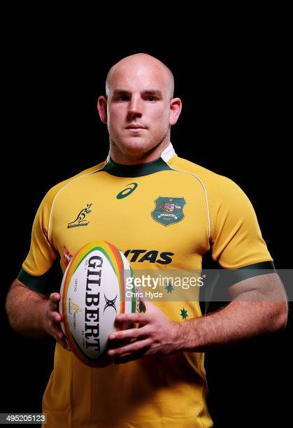 Stephen Moore poses during an Australian Wallabies portrait session at Sanctuary Cove on June 1 2014 in Gold Coast Australia
