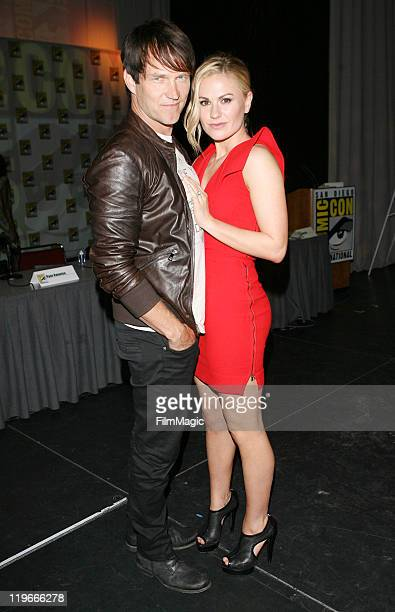 Stephen Moyer and Anna Paquin attend HBO's True Blood Panel And QA Session At ComicCon 2011 on July 22 2011 in San Diego California