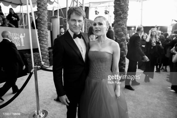 Stephen Moyer and Anna Paquin attend the 26th Annual Screen Actors Guild Awards at The Shrine Auditorium on January 19 2020 in Los Angeles California