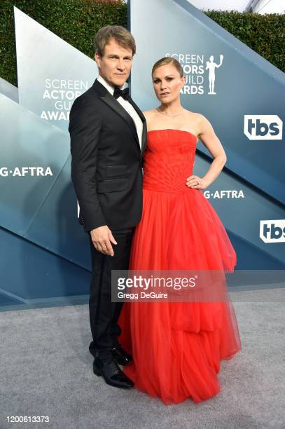 Stephen Moyer and Anna Paquin attend the 26th Annual Screen Actors Guild Awards at The Shrine Auditorium on January 19, 2020 in Los Angeles,...