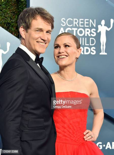 Stephen Moyer and Anna Paquin attend the 26th Annual Screen ActorsGuild Awards at The Shrine Auditorium on January 19, 2020 in Los Angeles,...