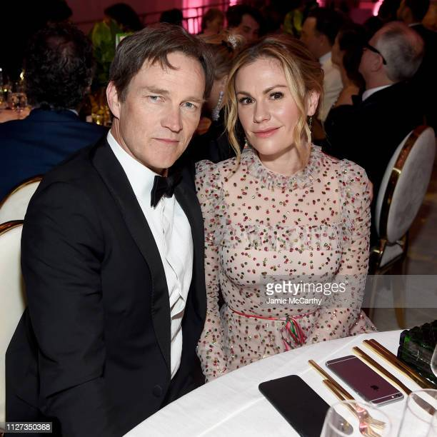 Stephen Moyer and Anna Paquin attend the 27th annual Elton John AIDS Foundation Academy Awards Viewing Party sponsored by IMDb and Neuro Drinks...