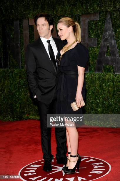 Stephen Moyer and Anna Paquin attend VANITY FAIR Oscar Party ARRIVALS at Sunset Tower Hotel on March 7 2010 in West Hollywood California