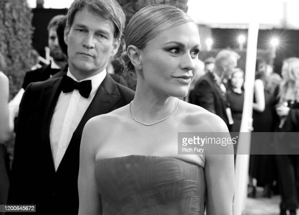 Stephen Moyer and Anna Paquin attends the 26th Annual Screen ActorsGuild Awards at The Shrine Auditorium on January 19 2020 in Los Angeles California