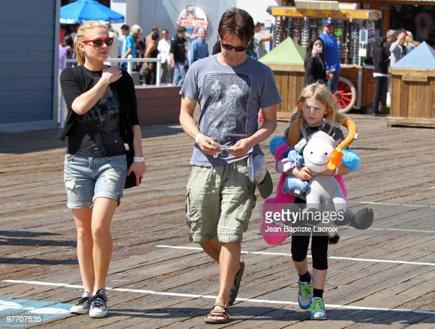 Stephen Moyer Anna Paquin and his daughter Lilac are seen on March 14 2010 in Santa Monica California