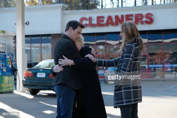 Stephen Moyer guest star Sharon Gless and Amy Acker in the first part of the eXtraction/Xroads twohour season finale of THE GIFTED airing Monday Jan...