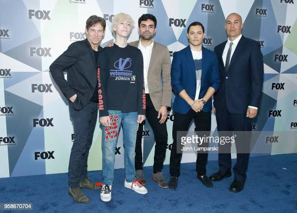 Stephen Moyer Sean Teale Percy Hynes White Blair Redford and Coby Bell attend 2018 Fox Network Upfront at Wollman Rink Central Park on May 14 2018 in...