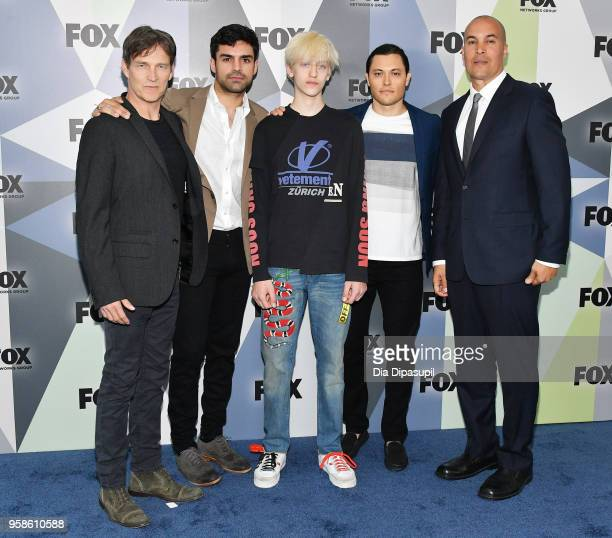 Stephen Moyer Sean Teale Percy HynesWhite Blair Redford and Coby Bell attend the 2018 Fox Network Upfront at Wollman Rink Central Park on May 14 2018...