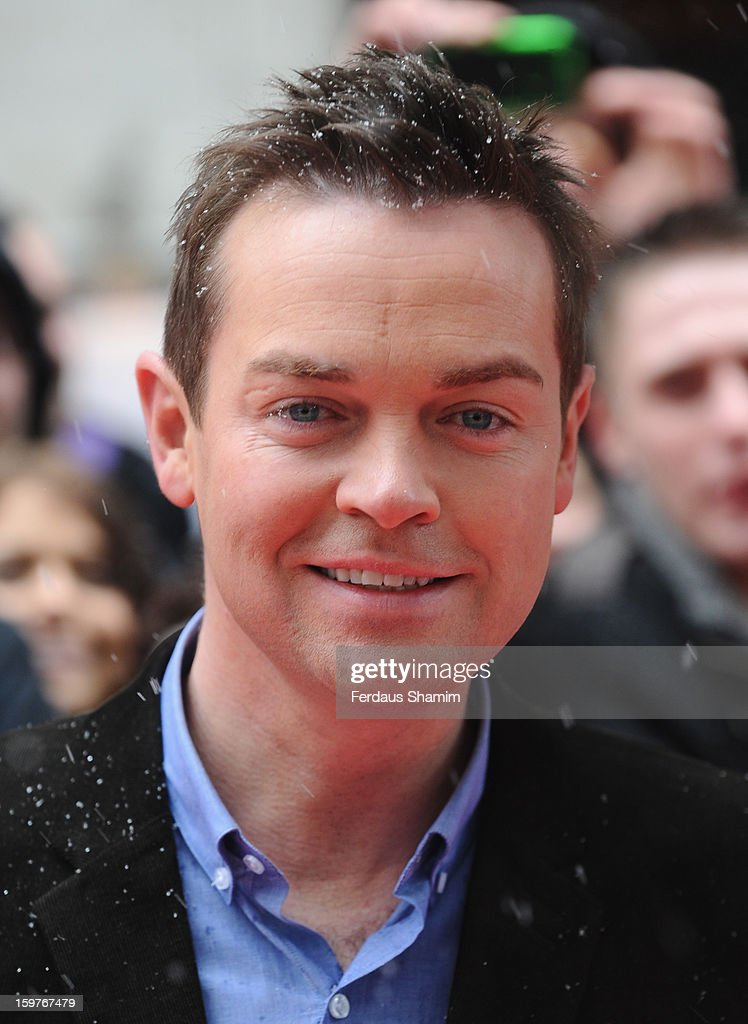 Stephen Mulhern arrives for the London judges auditions for 'Britain's Got Talent' at London Palladium on January 20, 2013 in London, England.