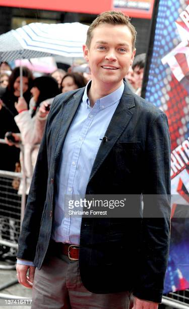 Stephen Mulhern attends the first day of auditions for Britain's Got Talent at The Lowry on January 20 2012 in Manchester England