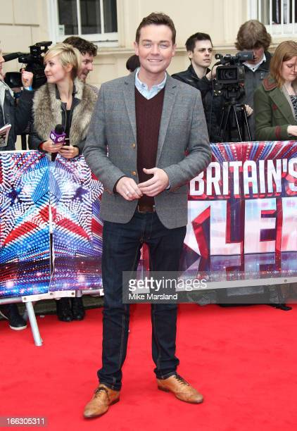 Stephen Mulhern attends the press launch for the new series of 'Britain's Got Talent' at ICA on April 11 2013 in London England