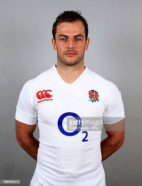 Stephen Myler of England poses before their tour of Argentina at Pennyhill Park on May 27 2013 in Bagshot England