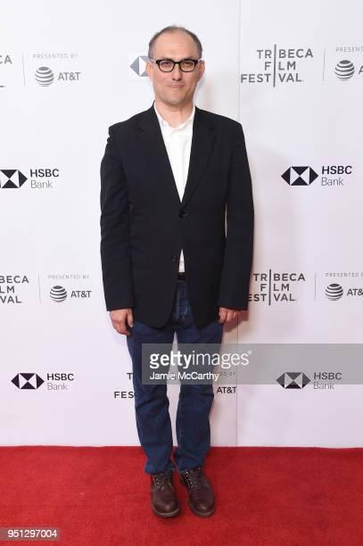 "Stephen Nomura Schible attends the screening of ""Ryuichi Sakamoto: Coda"" during the 2018 Tribeca Film Festival at Cinepolis Chelsea on April 25, 2018..."