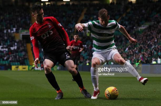 Stephen O'Donnell of Kilmarnock vies with Stuart Armstrong of Celtic during the Scottish Premier League between Celtic and Kilmarnock at Celtic Park...