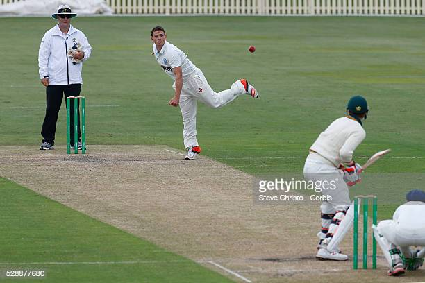 Stephen O'Keefe of the New South Wales Blues Bowls against the Tasmanian Tigers at Bankstown Oval in Sydney Australia Sunday Nov 15th 2015