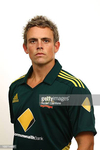 Stephen O'Keefe poses for a portrait during the official Australian One Day International cricket team headshots session at the Hyatt Coolum on...