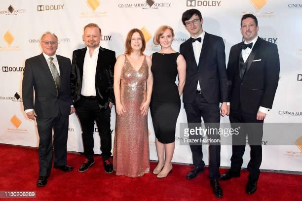Stephen Oliver, Maciej Zielinski, Lauren McClard, Ellie McNeil, Scott Esterson and Nicolas Cattaneo attend the 55th Annual Cinema Audio Society...