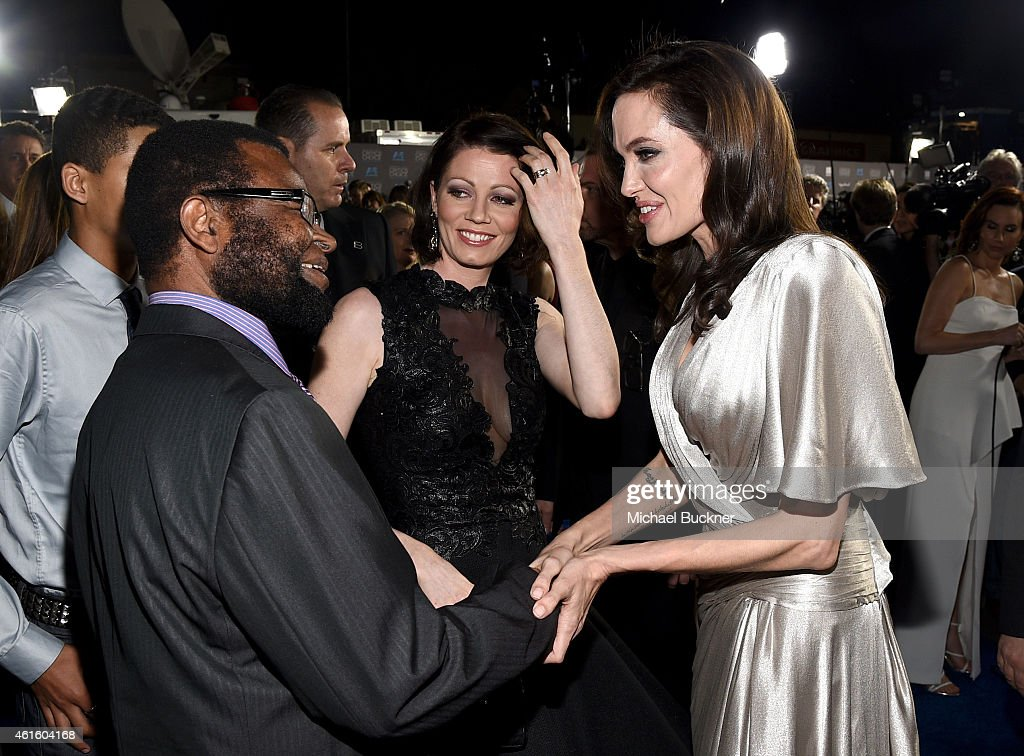 Stephen Oyelowo, actress Jessica Oyelowo, and director/actress Angelina Jolie attend the 20th annual Critics' Choice Movie Awards at the Hollywood Palladium on January 15, 2015 in Los Angeles, California.