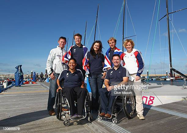Stephen Park RYA Olympic Manager Stephen Thomas Hannah Stodel Niki Birrell and Penny Briscoe BAA Performance Director Alexandra Rickham and John...