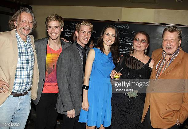 Stephen Payne Zachary Booth Preston Sadler Natalia Payne Elizabeth Ashley and Brian Murray pose at the Opening Night Afterparty for Edward Albee's Me...