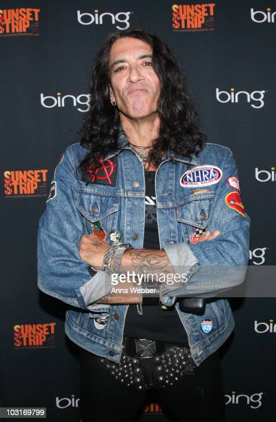 Stephen Pearcy of Ratt poses backstage at Bing Presents Its Sunset Strip Summer Concert Series Featuring Ratt at the Key Club on July 29 2010 in West...