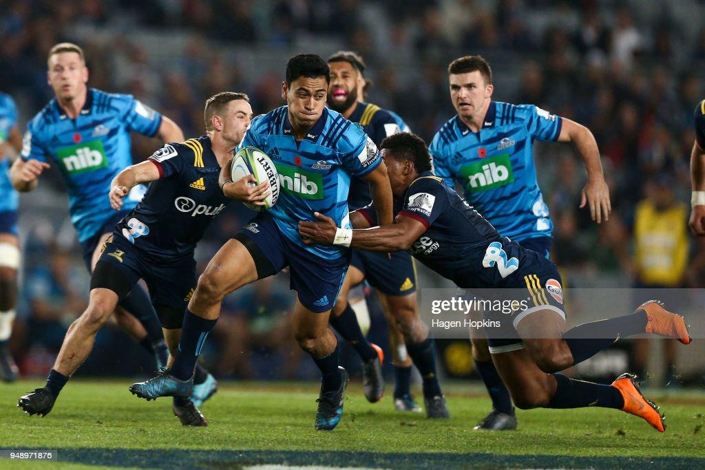 Super Rugby Rd 10 - Blues v Highlanders : Nieuwsfoto's
