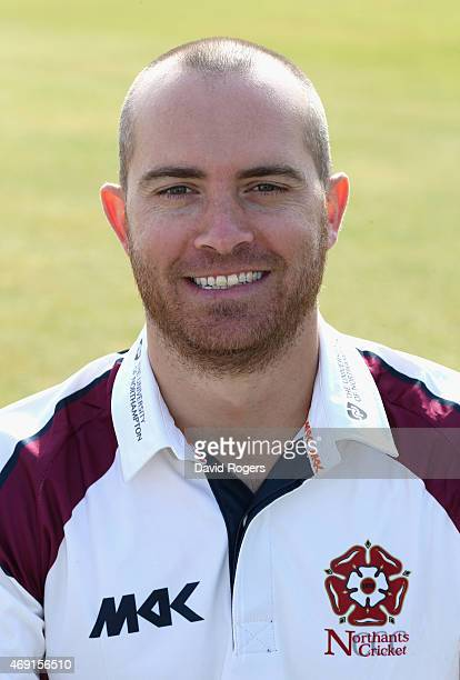 Stephen Peters of Northamptonshire poses for a portrait during the photocall held at the County Ground on April 10 2015 in Northampton England