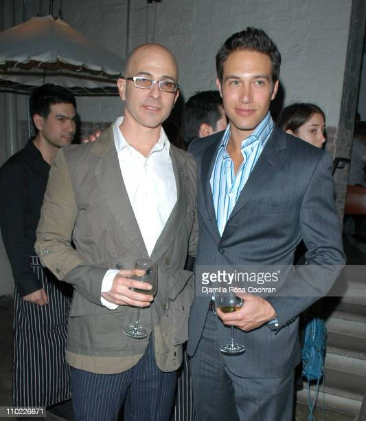 Stephen Petronio and Eric Villency during Eric Villency Hosts the Stephen Petronio Benefit at Public in New York City, New York, United States.