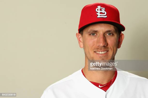Stephen Piscotty poses for a portrait during St Louis Cardinals Photo Day at Roger Dean Stadium on February 20 2017 in Jupiter Florida