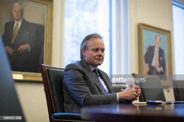 Stephen Poloz governor of the Bank of Canada listens during an interview in Ottawa Ontario Canada on Monday Nov 26 2018 Considered a sure thing only...