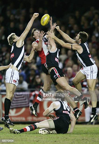 Stephen Powell for the Saints in action during the round seventeen AFL match between the Collingwood Magpies and St. Kilda Saints at the Telstra Dome...