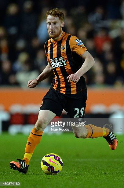 Stephen Quinn of Hull City during the Barclays Premier League match between Hull City and Leicester City at the KC Stadium on December 28 2014 in...
