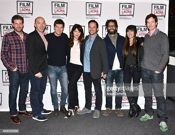 Stephen Rannazzisi Paul Scheer Mark Duplass Katie Aselton Nick Kroll Jason Mantzoukas Nadine Velazquez and Rob Huebel perform a live reading at the...