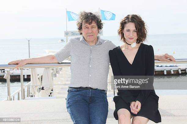 Stephen Rea and Tuppence Middleton attend 'War Peace' photocall on La Croisette on October 6 2015 in Cannes France