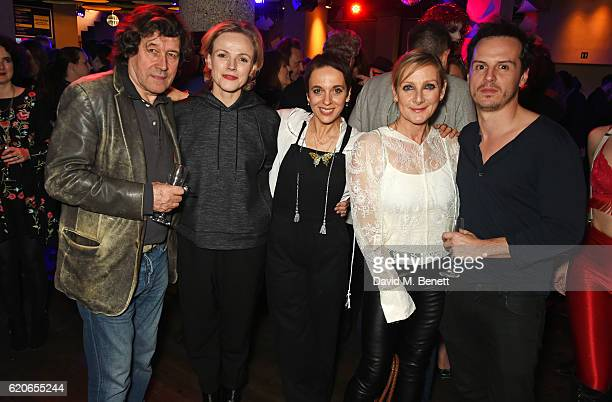 Stephen Rea Maxine Peake Amanda Abbington Lesley Sharp and Andrew Scott attend The Bash at The Royal Court Theatre a gala night of celebration to...