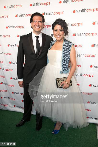 Stephen Rios and Evette Rios attend the 9th Annual HealthCorps' Gala at Cipriani Wall Street on April 29 2015 in New York City