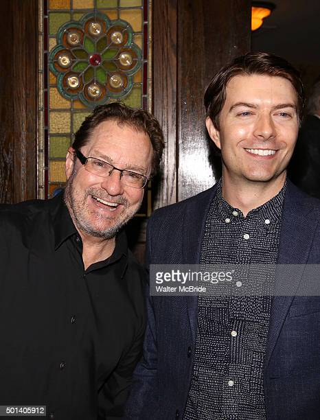 Stephen Root and Noah Bean attend the opening night after party for the Playwrights Horizons New York premiere production of 'Marjorie Prime' at Tir...