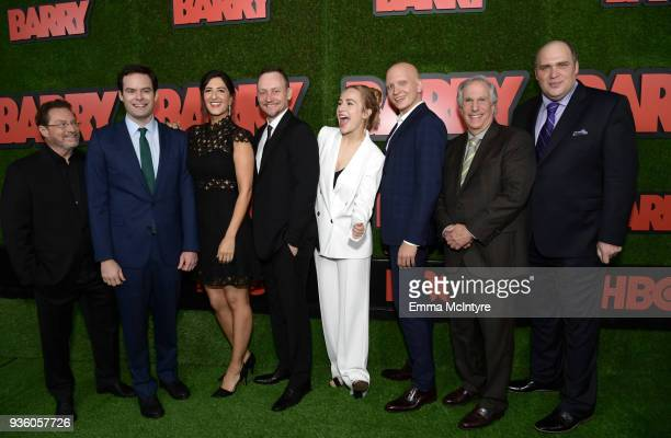 Stephen Root Bill Hader D'Arcy Carden Alec Berg Sarah Goldberg Anthony Carrigan Henry Winkler and Glenn Fleshler attend the premiere of HBO's 'Barry'...