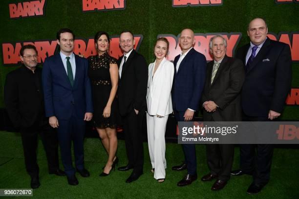 Stephen Root Bill Hader D'Arcy Carden Alec Berg Sarah Goldberg Anthony Carrigan Henry Winkler and Glenn Fleshler attend the premiere of HBO's 'Barry'...