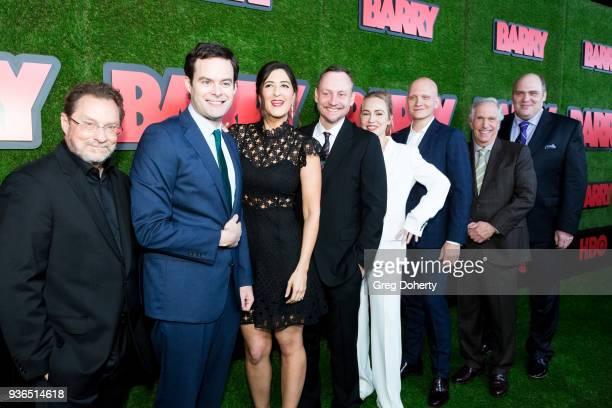 Stephen Root Bill Hader D'Arcy Carden Alec Berg Sarah Goldberg Anthony Carrigan Henry Winkler and Glenn Fleshler attend the Los Angeles premiere of...