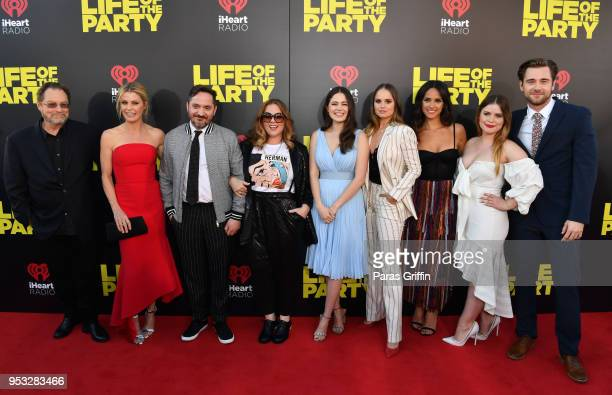 Stephen Root Julie Bowen Ben Falcone Melissa McCarthy Molly Gordon Debby Ryan Adria Arjona Jessie Ennis and Luke Benward attend Life Of The Party...
