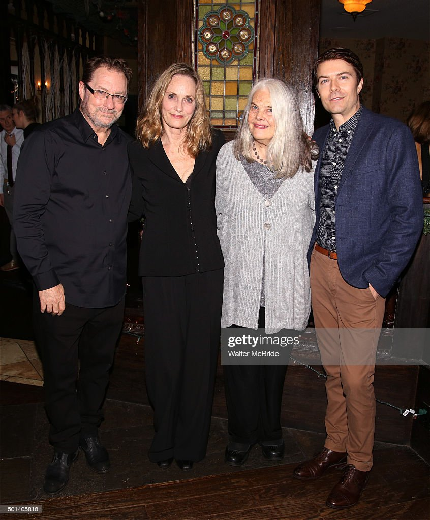 Stephen Root, Lisa Emery, Lois Smith and Noah Bean attend the opening night after party for the Playwrights Horizons New York premiere production of 'Marjorie Prime' at Tir Na Nog Irish Pub & Grill on December 14, 2015 in New York City.