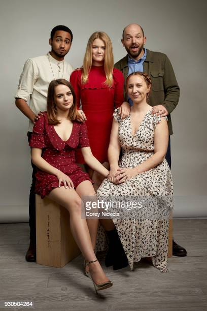 Stephen Ruffin Joey King Kelly Lamor Wilso Paul Scheer and Becca Gleason of the film 'Summer '03' poses for a portrait in the Getty Images Portrait...