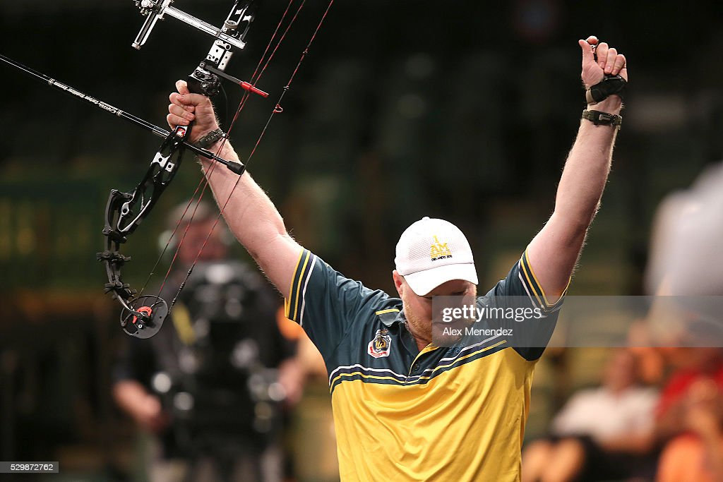 Stephen Sandman of Australia is seen during the Invictus Games Orlando 2016 Archery Finals at the ESPN Wide World of Sports Complex on May 9, 2016 in Lake Buena Vista, Florida.